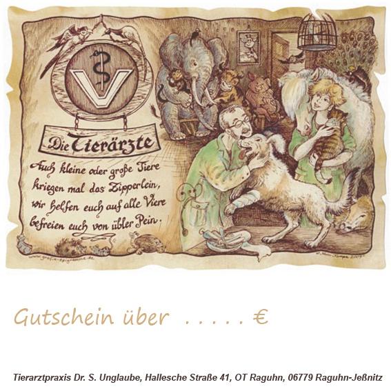 Service Tierarztpraxis Raguhn Dr. S. Unglaube Gutschein